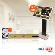 Đầu Karaoke BTE S650 New 4TB + Màn Hình Cảm Ứng BTE 21,5 Inch