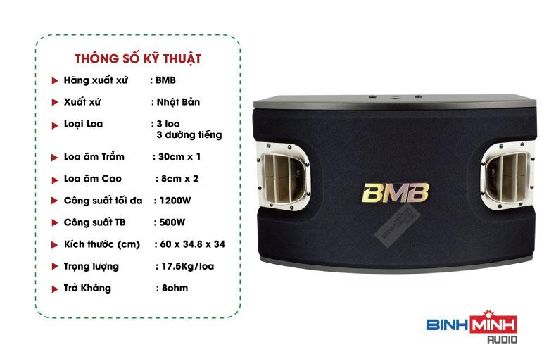 Thông số kỹ thuật Loa Karaoke BMB CSV 900SE