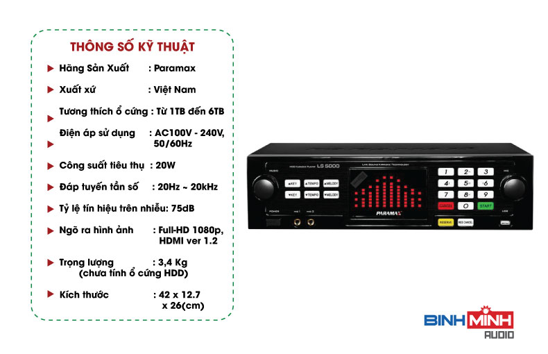 Đầu karaokePARAMAX LS5000