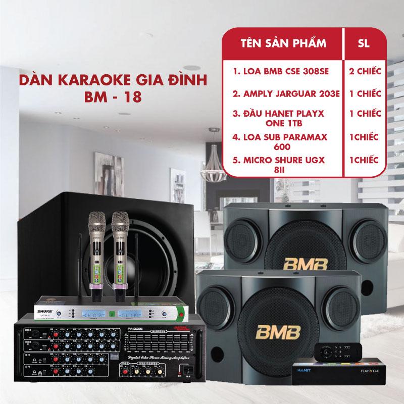 Dàn karaoke gia đình cho phòng 30m2