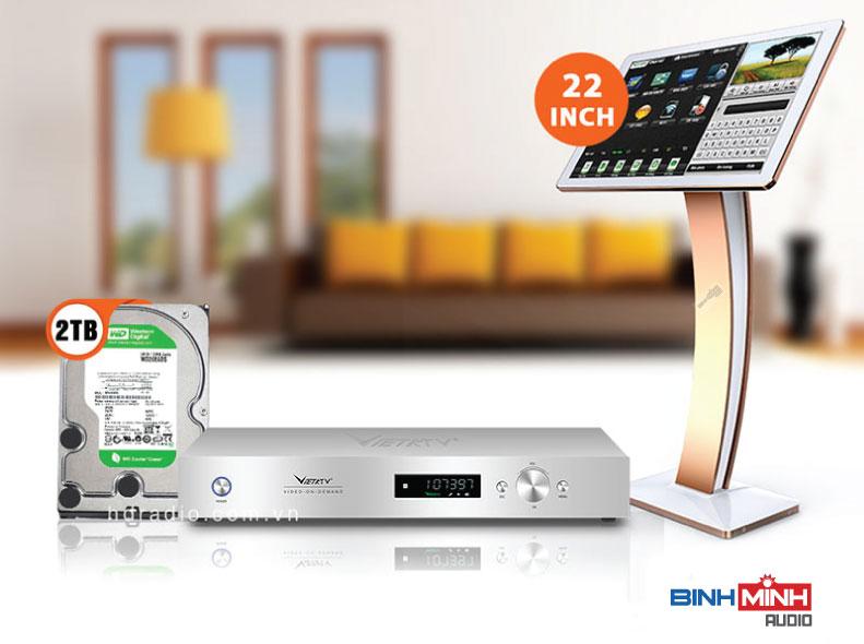 Đầu Karaoke Việt KTV HD Plus 2TB + Màn hình cảm ứng 22inch