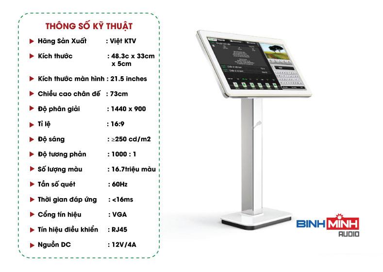 Thông số kỹ thuật màn hình Viet KTV 21inch