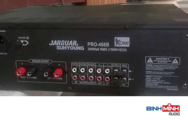 Mặt sau Amply Jarguar Suhyoung Pro 468B