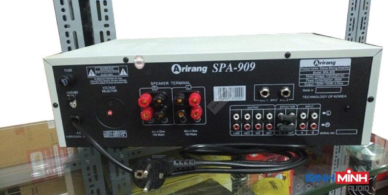 Mặt sau amply karaoke Arirang SPA 909