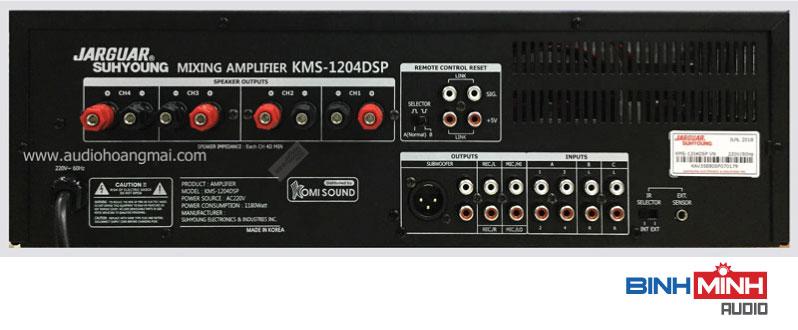 Cổng kết nối Amply karaoke jarguar KMS-1204 DSP