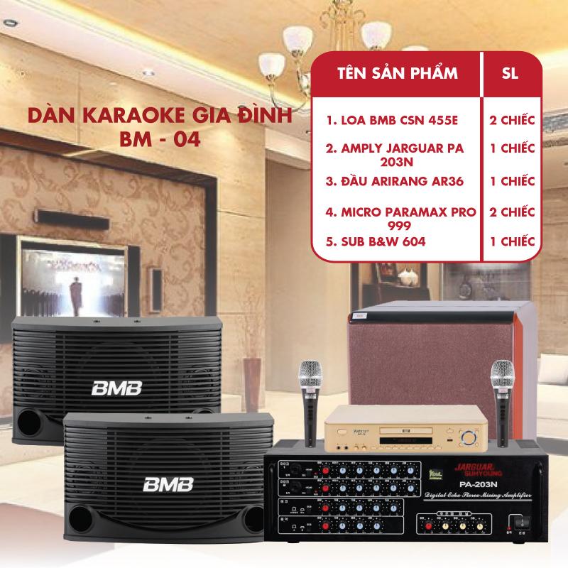 Dàn karaoke gia đình phổ thông