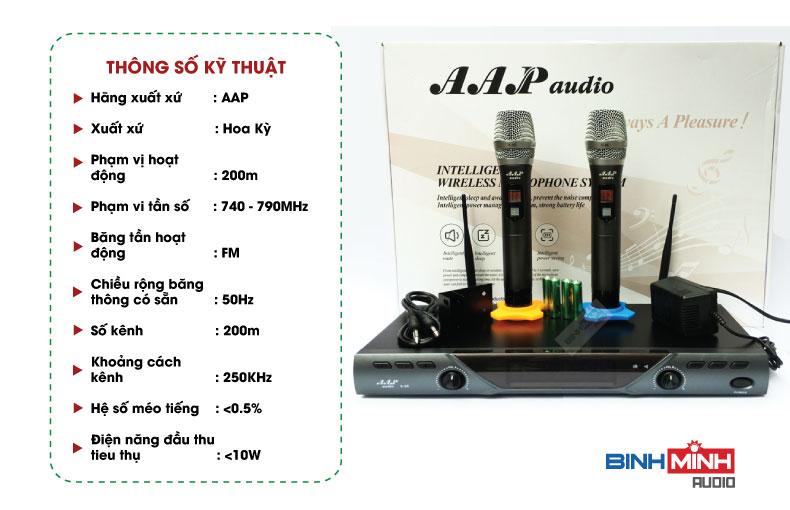 Thông số kỹ thuật micro AAP K88