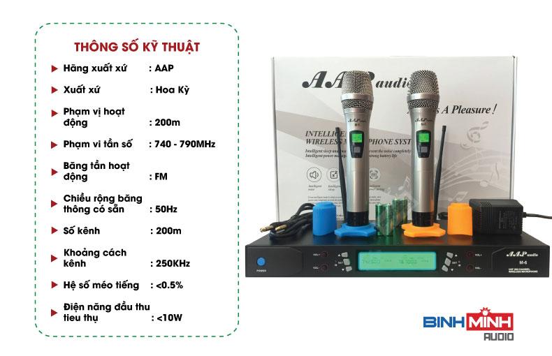 Thông số kỹ thuật micro AAP VK 9999