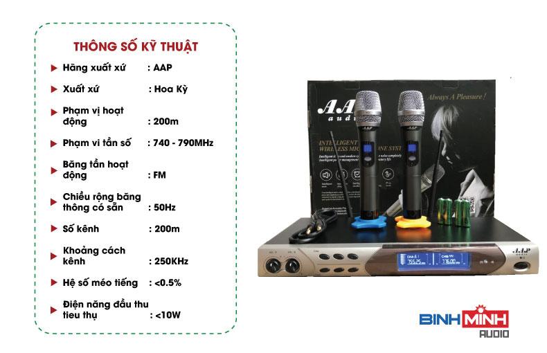 Thông số kỹ thuật Micro AAP M3