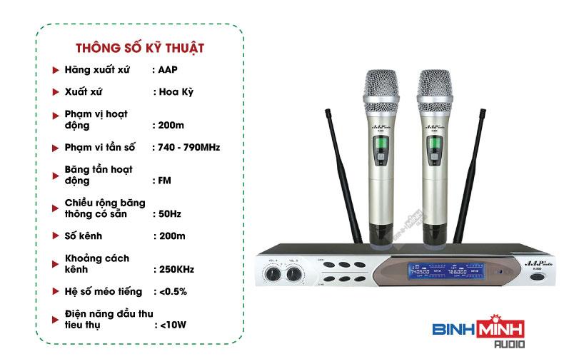 Thông số kỹ thuật micro AAP M5