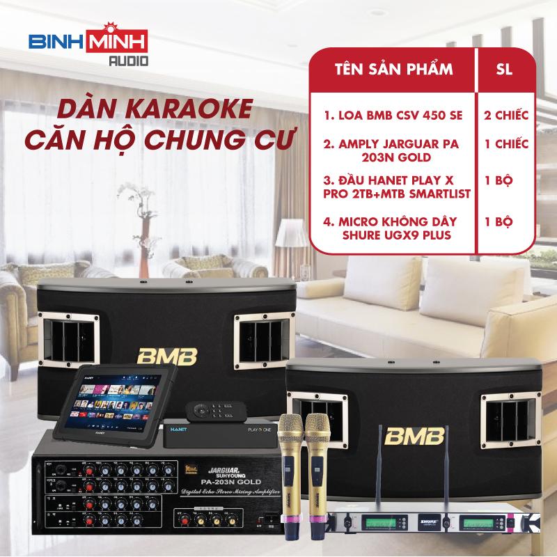 Dàn Karaoke Căn Hộ Chung Cư 15 -30 m2