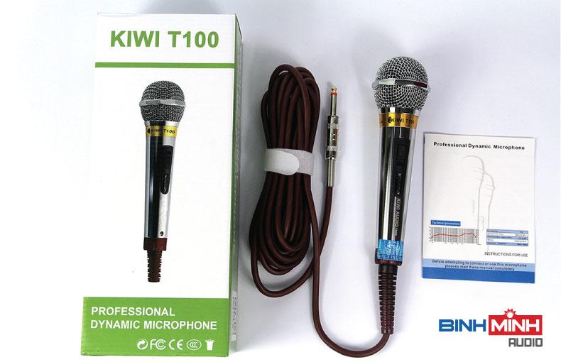 Trọn bộ micro có day kiwi T100