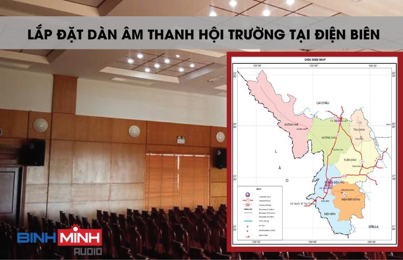 Lắp đặt dàn âm thanh hội trường tại Điện Biên