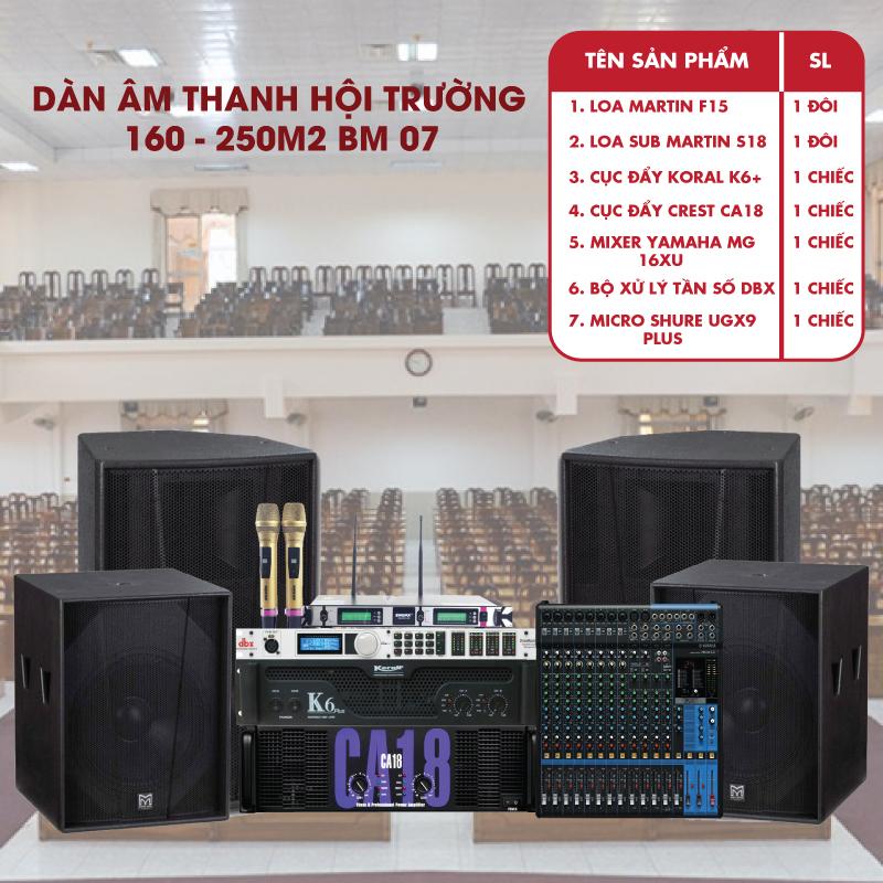 Dàn âm thanh hội trường 160- 250 M2