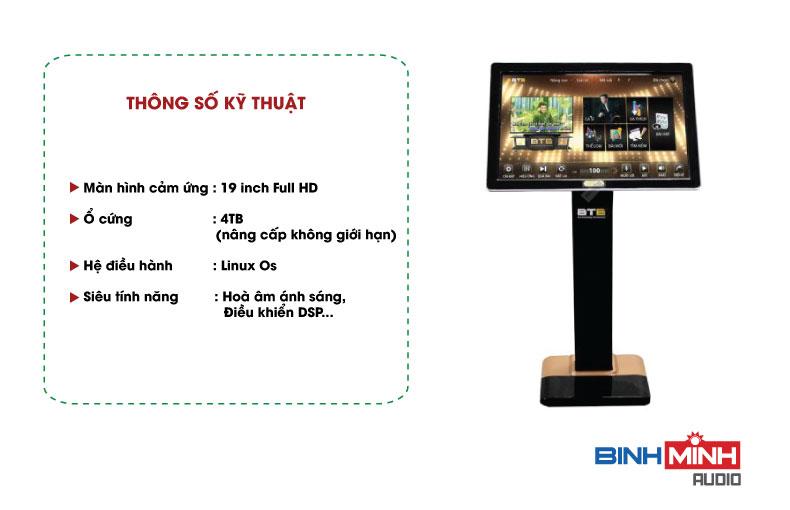 Thông số kỹ thuật màn Hình Liền Đầu BTE S9650