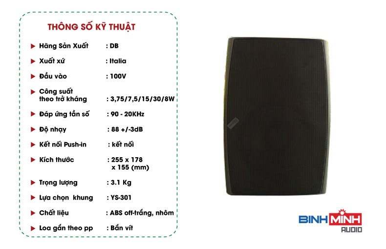 Loa hộp DB CS 503