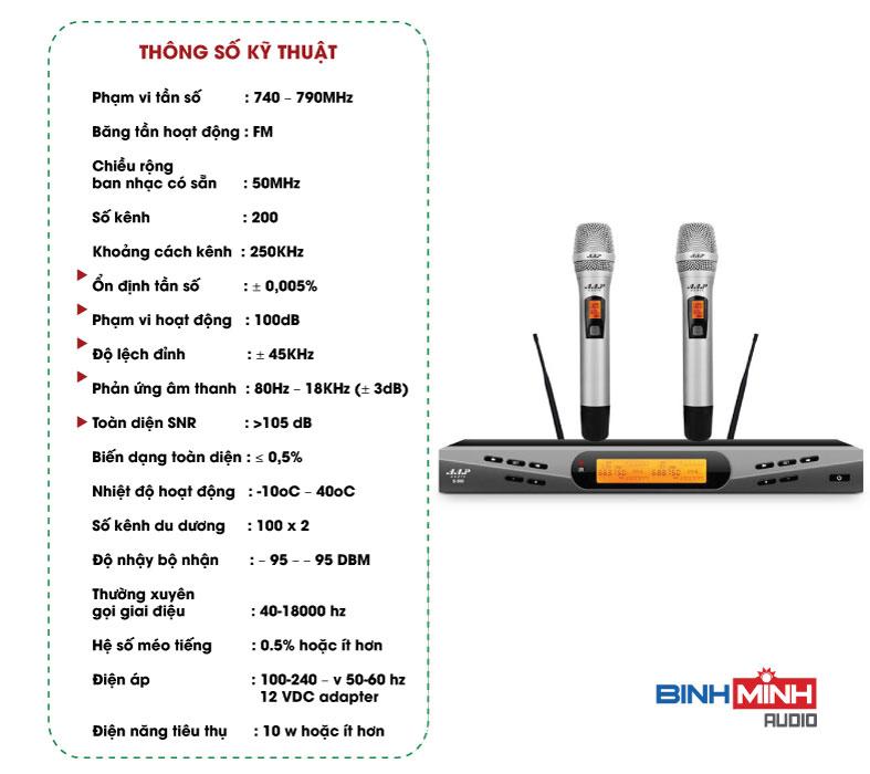 Thông số kỹ thuật Micro AAP S500