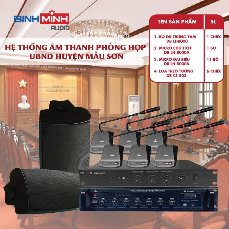 Âm thanh phòng họp UBND Mẫu Sơn