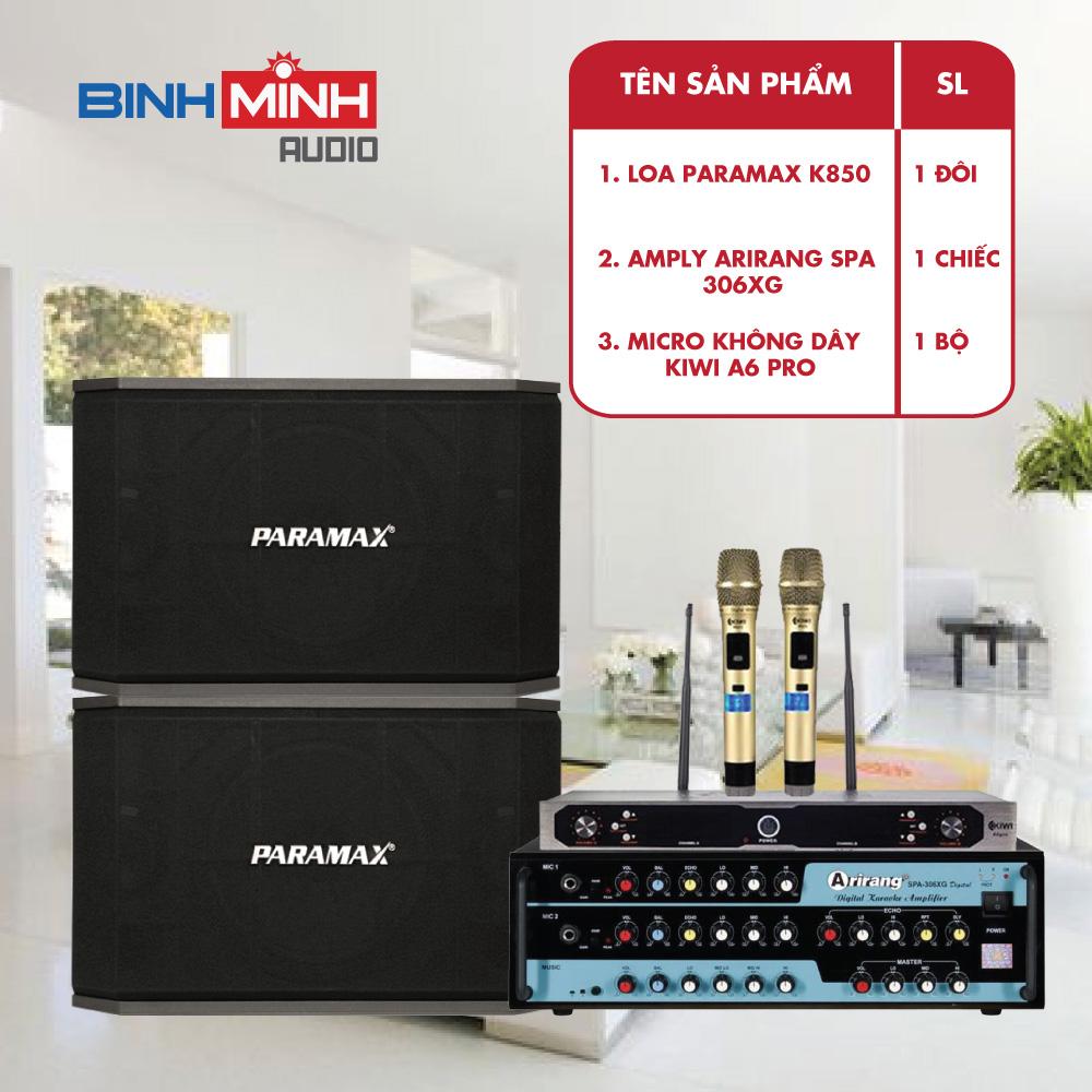 Loa Paramax K850 trong dàn karaoke giá rẻ